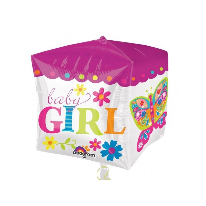 Baby Girl Cubez (gevuld met helium)