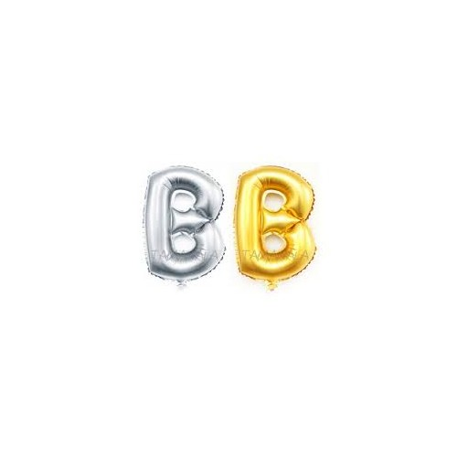 Giant folie letter B goud of zilver (ongevuld)