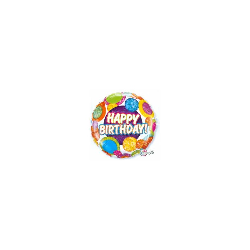 Folie Ballon Happy Birthday Holographic
