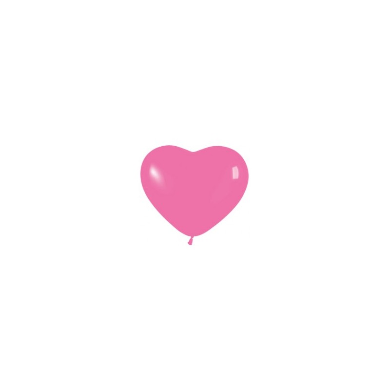 """Hart ballon 6"""" / 15cm pink 10st."""