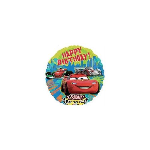 Folie ballon Sing a tune Cars Happy Birthday