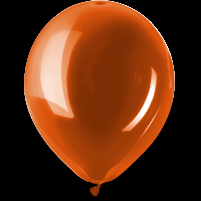 Ballonnen Metallic Bright Orange per 10st./50st./100st.