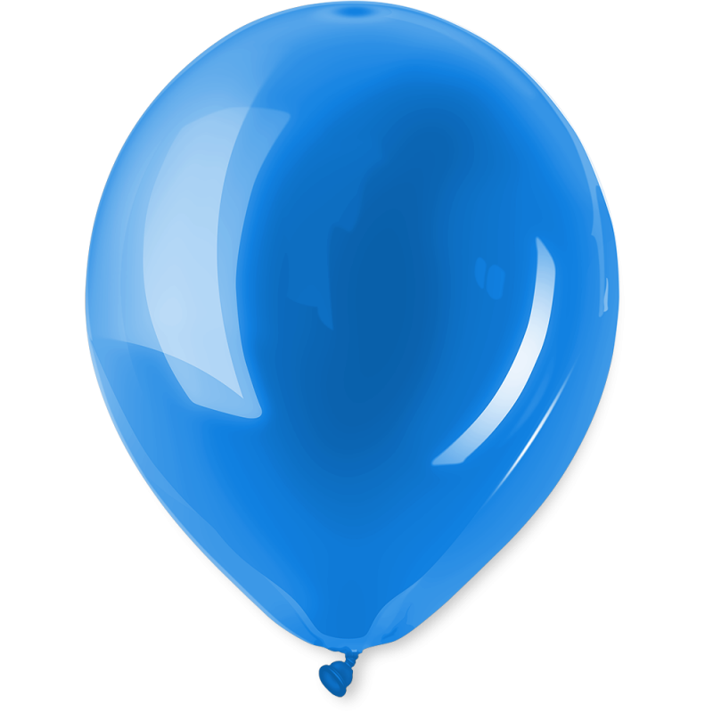 Ballonnen standaard Blauw per 10st.