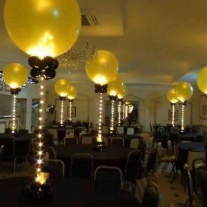 Ballonnen met led verlichting of confetti