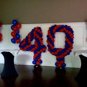 Ballon cijfers en letters